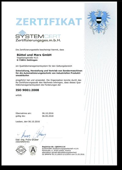 Certificate SYSTEMCERT AUSTRIA